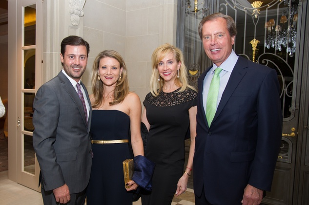 47 Ernie and Stephanie Cockrell, from left, and Trisha and David Dewhurst at the Zadok jewelry dinner October 2014