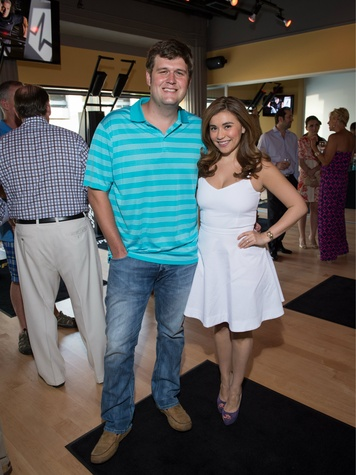 clint allen, ashley borroel, speedflex grand opening