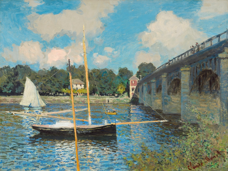 MFAH Monet and the Seine Impressions of a River October 2014 Claude Monet - The Bridge at Argenteuil