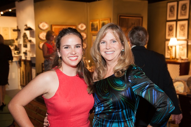 723 Mary Hubbel, left, and Juliet Hubbel at the Theta Charity Antiques Show preview party November 2013