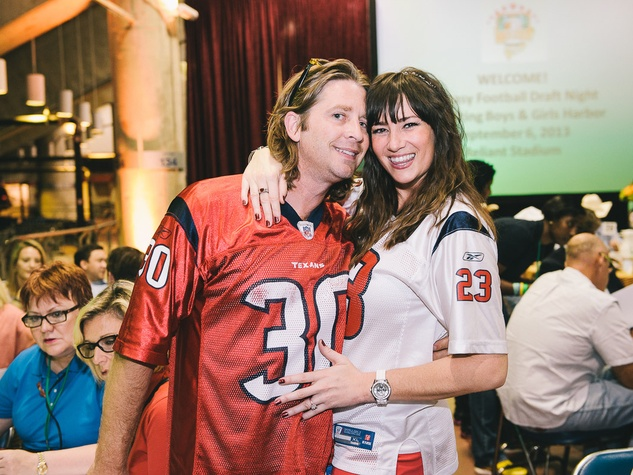 Boys & Girls Harbor Fantasy Football party September 2013 Rachel Price and Randall McCoy