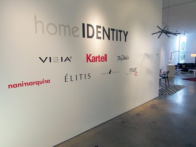 Home IDENTITY brand wall at entrance June 2014