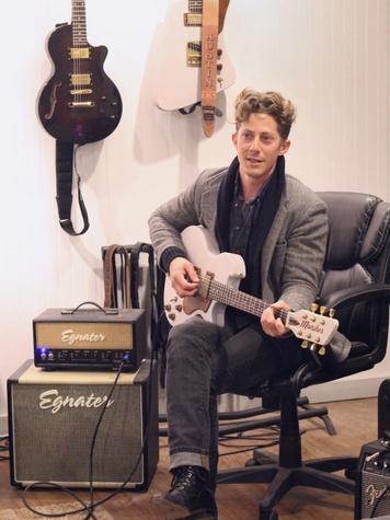 Moniker Guitars Texas BBQ Party December 2014 - Baines Kinnison
