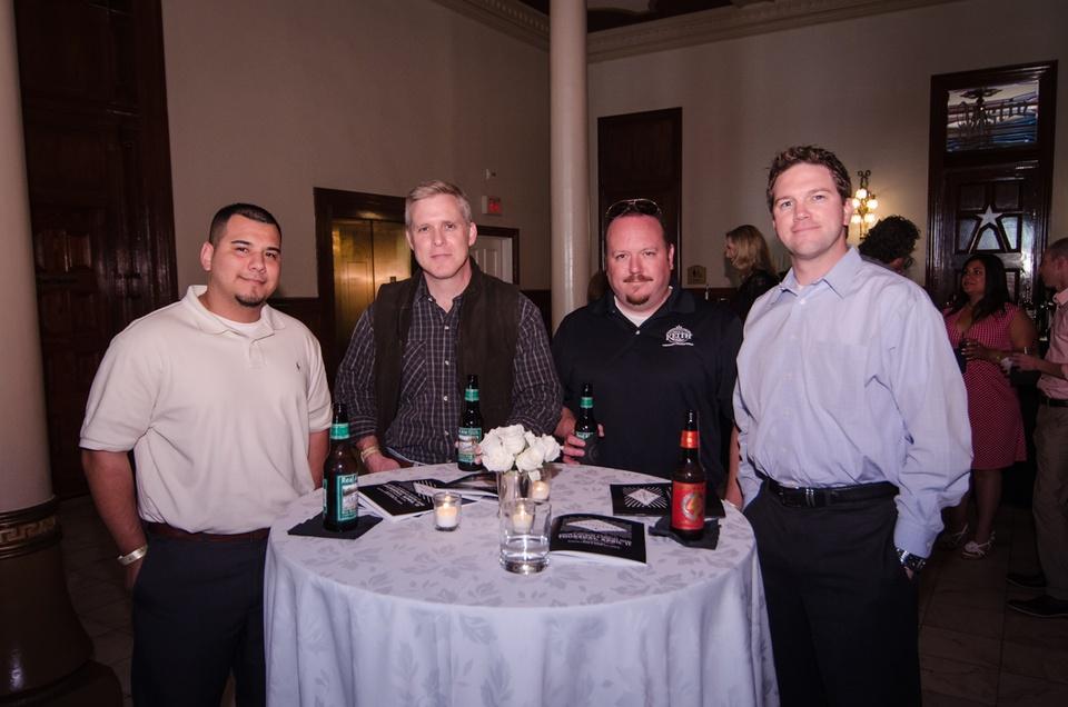 Michael Arredondo, Matt Bradfield, James Elder and T. J. Samuelson, all of Ben E Keith Co.