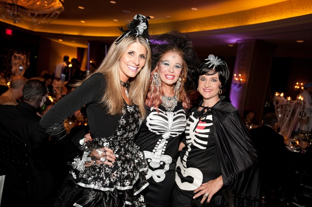1 Gina Bhatia, from left, Cindi Rose and Mary D'Andrea at the Bone Bash Halloween party October 2013
