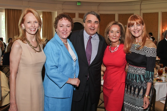 Center for Contemporary Craft luncheon May 2013 Susan Krohn, Julie Farr, Mark Wawro, Melanie Gray, Gracie Cavnar