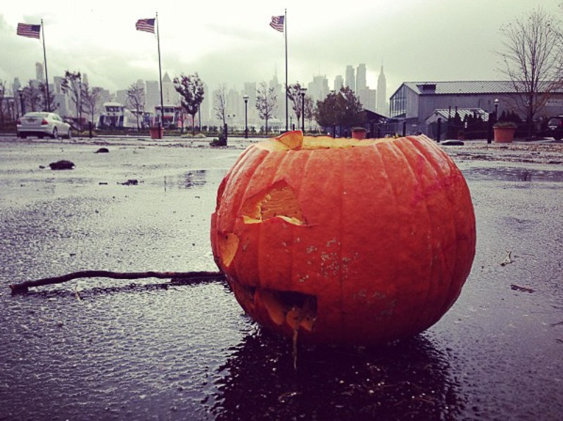 Hurricane Sandy, pumpkin, October 2012