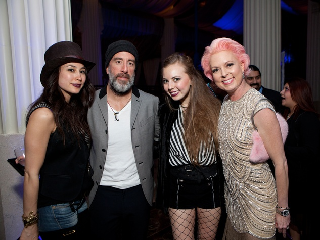 28 Jacy and Grant Cooper, from left, Kady Smalley and Vivian Wise at the Night Circus party January 2014