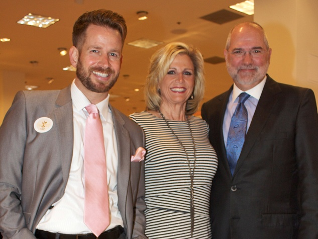 17 Jeff Shell, from left, Melanie Campbell and Bob Cavnar at Dress for Dinner March 2014