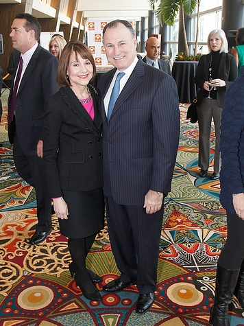 Sandy and Mike Ballases at the Neighborhood Centers' Heart of Gold Celebration February 2014