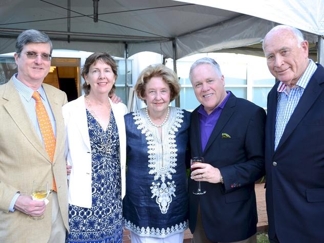 Houston Public Library Foundation benefit May 2013 George Peterkin, Susan Garwood, Harriet Latimer, Steve Croxson and Truett Latimer