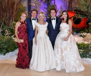 Ciara Cooley, Clay Cooley, Lisa Cooley, Chase Cooley, Bela Cooley, Crystal Charity Ball 2017