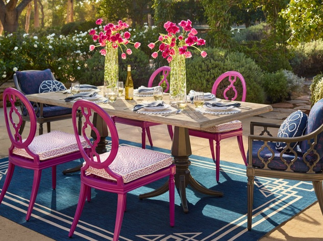 Frontgate outdoor dining patio set