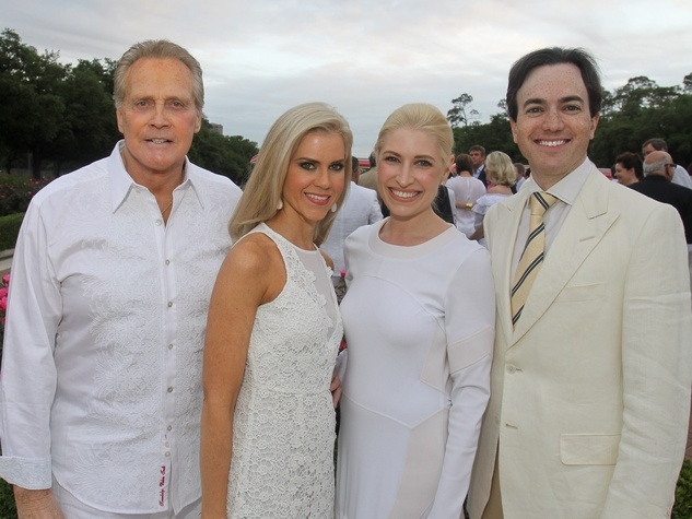 Hermann Park Conservancy Gala April 2013 Lee Majors and Faith Majors with Isabel David and Danny David