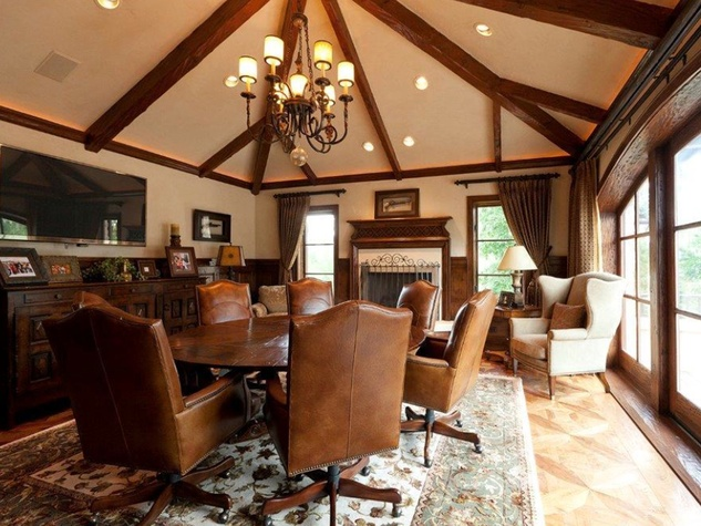 On the Market 15 Grand Regency Circle Enron mansion The Woodlands January 2015 meeting room