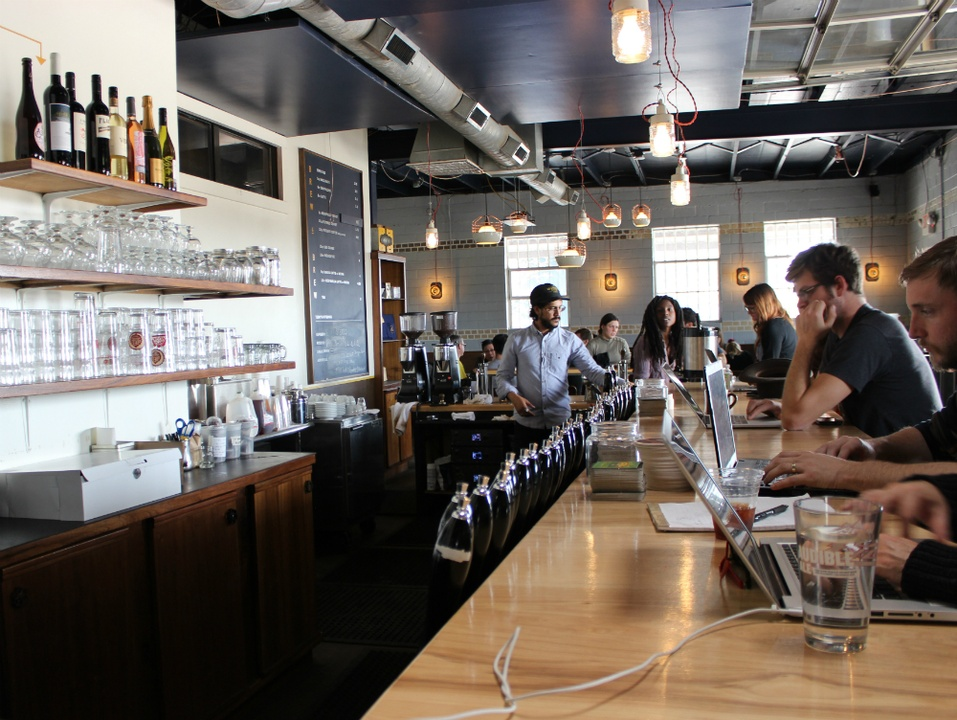 Wright Bros Brew and Brew_coffee and beer_interior