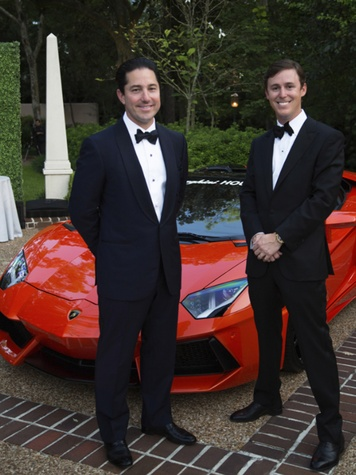 1 Todd Blue, left, and Kelly Wolf at the Lamborghini party September 2014