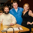 11 Eric Sandler, from left, Craig Hensley and Sarah Jones at CityCentre Night Out with CultureMap April 2014