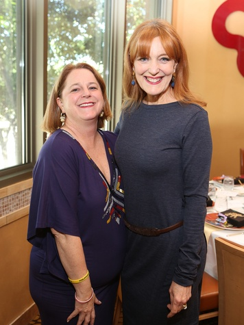 121 Shelley Taylor Ludwick, from left, and Gracie Cavnar at the Houston Grand Opera Ball luncheon February 2014