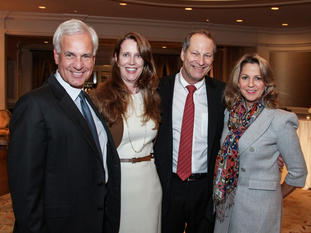 Harvey Vigneault, from left, Shaddow Sloan, Dr. Paul Mansfield and Kay Kanaby at the Houston Hospice dinner October 2013