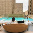 Rooftop pool at the Adolphus Hotel