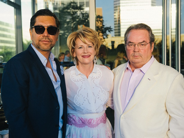 Ceron, from left, Marcia Backus and Mike Wood at Ceron's 50th birthday party August 2014