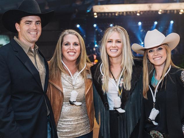 4 Houston Cattle Baron's Ball April 2013 Matthew Rogers and Cambrey Rogers, Juliana Rabe, Jenna Stanke