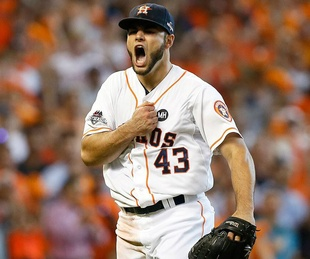 Lance McCullers chest bump shot