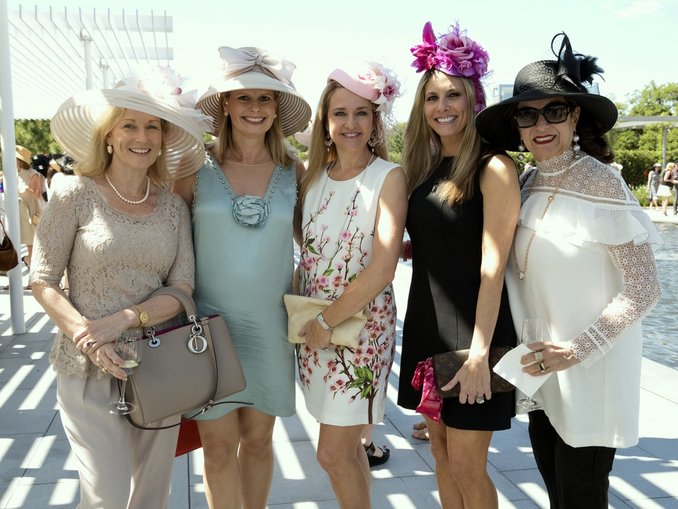 Houston, hats in the park, April 2017, Anne Kushwaha, Valerie Dieterich, Mary D'Andrea, Gina Bhatia, Mady Kades
