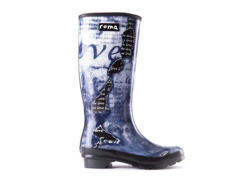 Roma limited edition Love Art rain boot