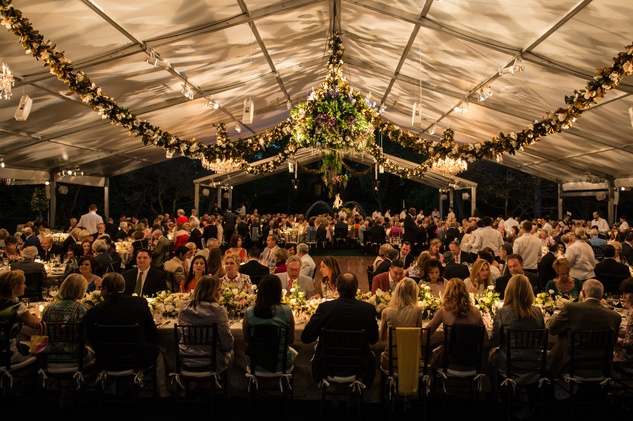 The venue at the Bayou Bend Garden Party March 2015