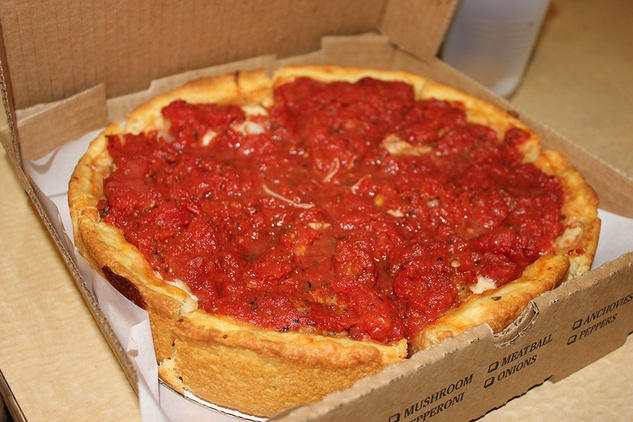 D'Marcos deep dish pizza