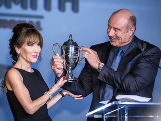 Robin mcgraw and phil mcgraw 42nd annual academy of country music
