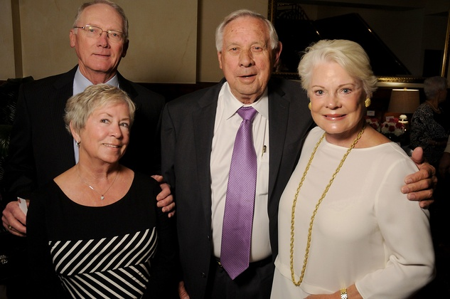 Hospice Butterfly Luncheon, March 2016, Suzy Freeman, Joe Freeman, Mike Prasek, Lou Anne Kellman