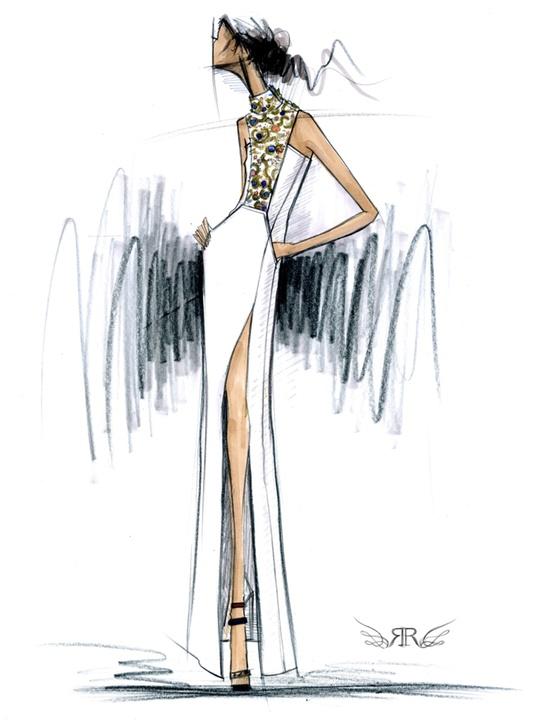 Fashion Week fall 2013, sketches, January 2013, Rachel Roy
