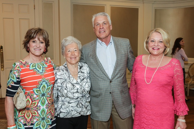 Marilyn Jaggard, from left, Ann Jaggard and Steve and Ellen Jaggard at the MS Society luncheon March 2015