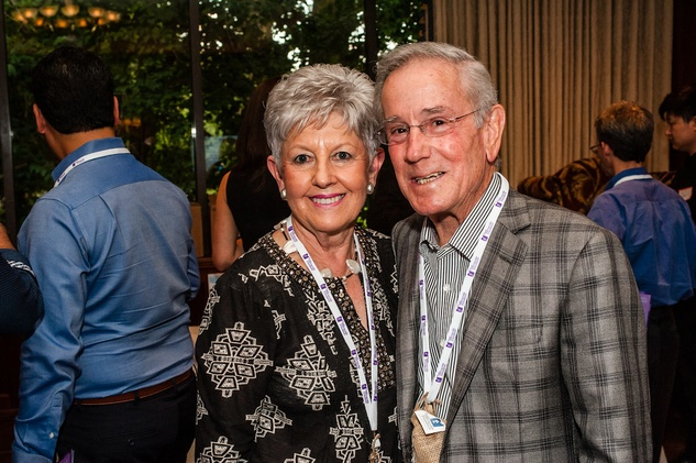 2 Marilyn and Louis Mogas at The Periwinkle Foundation's Iron Sommelier October 2014