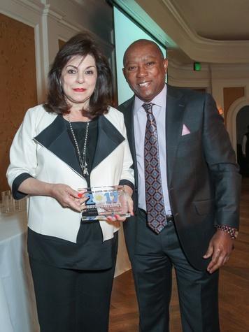 Laura Ward and Mayor Sylvestor Turner/Mayor's Literacy Breakfast