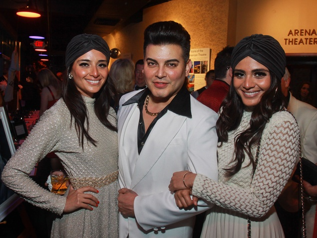 Stages Repertory Theatre gala, April 2013, Saba Jawda, from left, Edward Sanchez and Sarah Jawda. Saba and Sarah are the after-party chairs