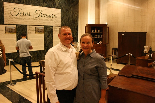News, Shelby, The Heritage Society Young Houstonians, August 2014, Barry and Kathy Cummings Boulte