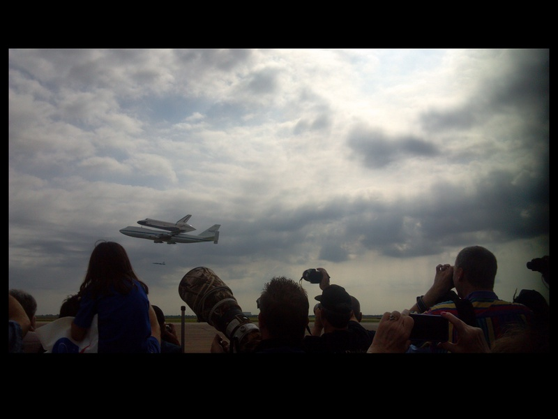 Space Shuttle Endeavour, flyour, first flyby, Ellington Field, September 2012