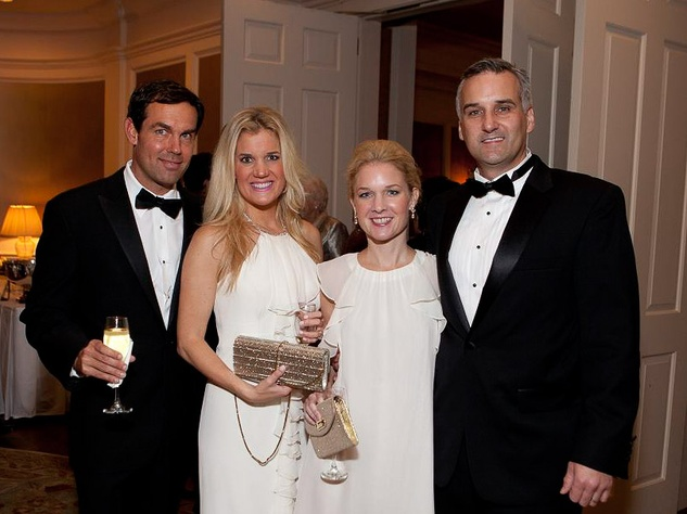436 Dr. Steve and Amee Robertson, from left, and Ashley and Kelly Oliver at the Blue Bird Circle Gala October 2013