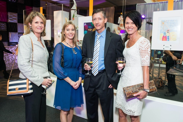 18 Susan French, from left, Sarah Newson, Craig Henderson and Karen Jenkins at the M.D. Anderson Gold Star Luncheon September 2014