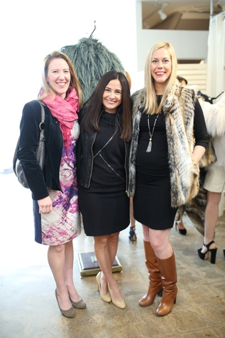 Michelle Phillips, Monica Garza, Heather McLeskey Conerly at Miles David fashion show