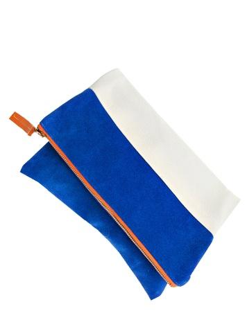 Blue suede foldover, ModMade Goods