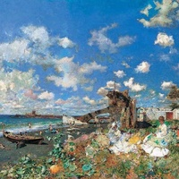 Dallas, Beach at Portici by Mariano Fortuny, January 2018