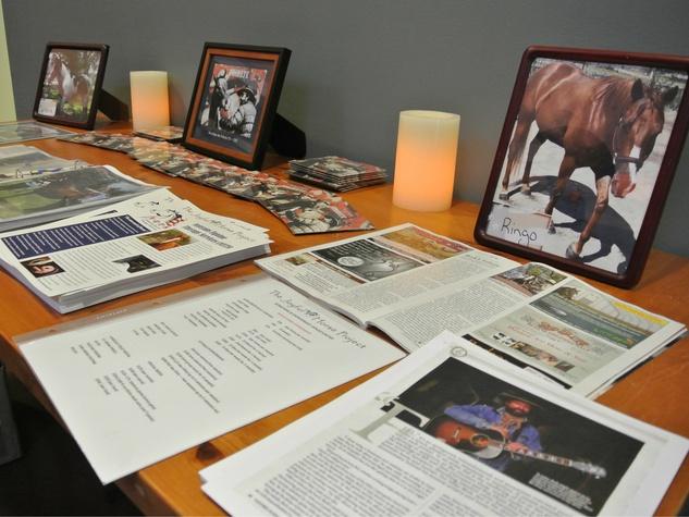 Entry Table at Joyful Horse Benefit Austin