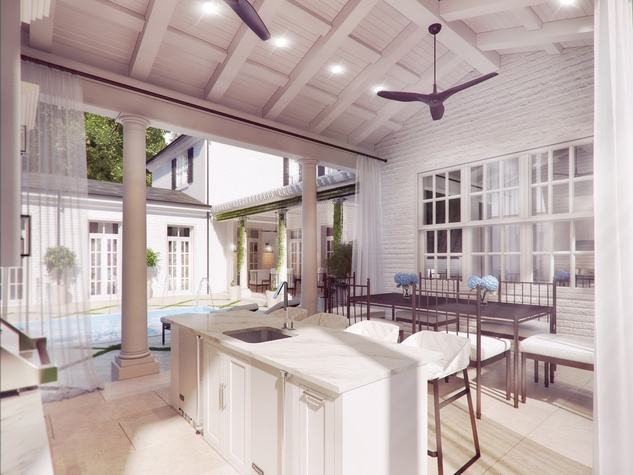 Houston, News, Shelby, Sudhoff Hampton Lane Collection, April 2015, 6111 Crab Orchard- summer kitchen