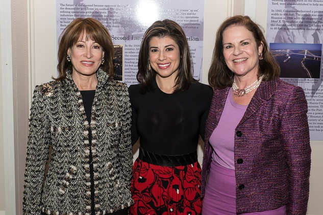 4 Janiece Longoria, from left, Lisa Hernandez and Laura Gibson at the Houston Heritage Society luncheon April 2014