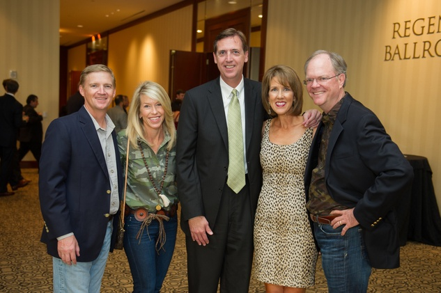 Carter and Meredith Crow, from left, Darrell and Lisa Taylor and Mark Pillsbury at the LifeHouse Houston Duck Dynasty dinner September 2014